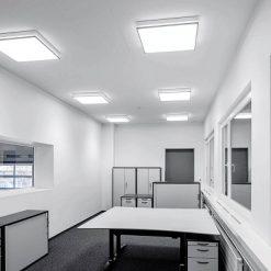 ứng dụng đèn LED panel ốp nổi vuông