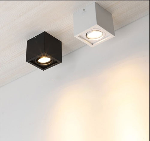 Sử dụng đèn led downlight ốp nổi cho trần bê tông