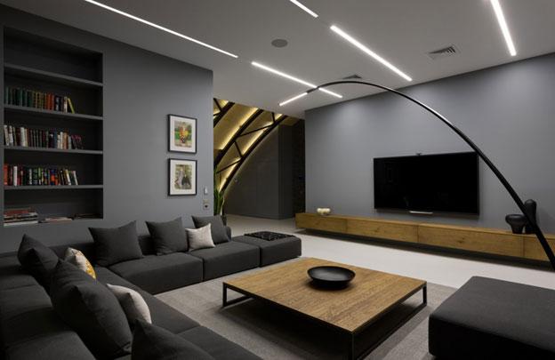 Sử dụng đèn led tuýp phù hợp cho phòng khách