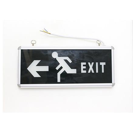 Đèn Exit thoát hiểm một mặt, đen FK-EX01D