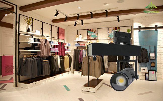 Lắp đặt đèn LED thanh ray cho showroom